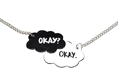 OK? OK Twin Black and White Cloud Friendship Fashion Necklace
