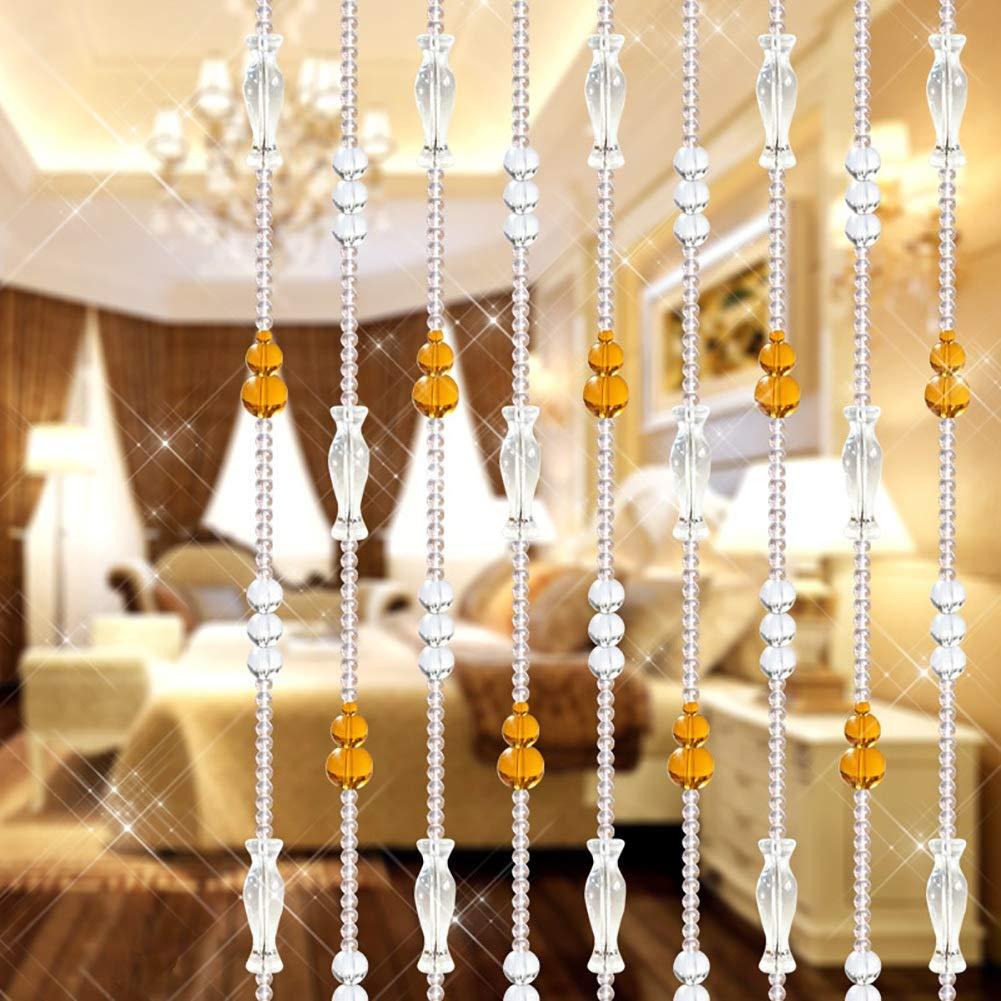 GuoWei ビーズカーテン ガラス 結晶 ペンダント 戸口 浴室 間仕切り ぶら下がっている ひも 装飾的な カスタマイズ可能 (色 : A, サイズ さいず : 150x220cm) 150x220cm A B07RZ18SHC