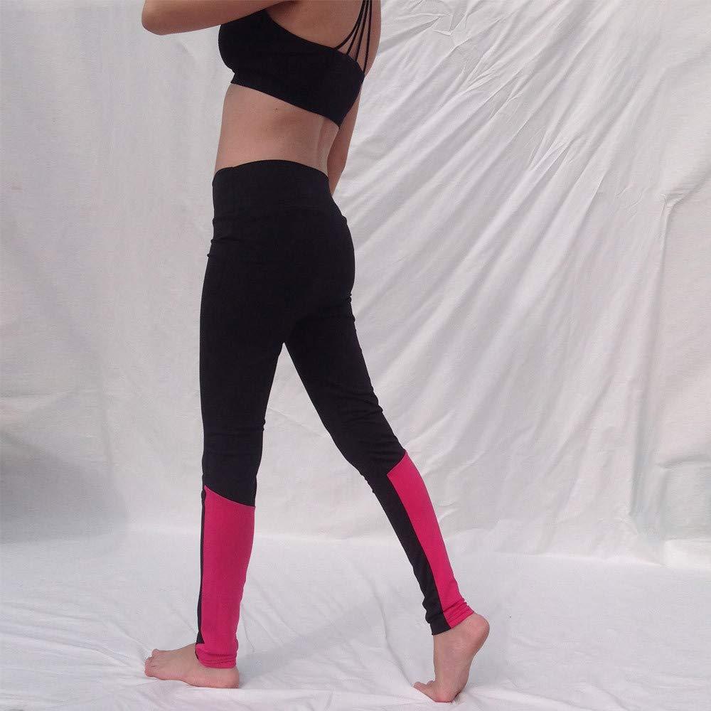 Leggins Desportivos Yoga,Leggings Yoga Mujer Pantalones Deportivos de Alta Cintura para Running Deportes Legging Pantalones Fitness Polainas Fannyfuny