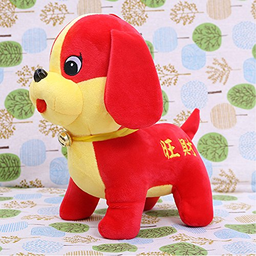Chinese New Year Decorations - Year of The Dog Stuffed Animal Festival Decoration Plush Puppy Toys Red 8