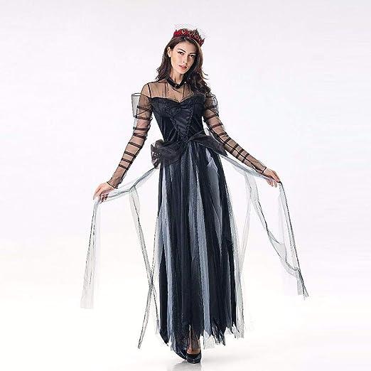 CHNWSJ de Halloween Disfraces de Halloween Vestidos de Negro Juego ...