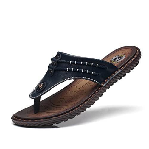9e1bf2f5ce3 Chaussure de Plage Piscine de Sport d eau Homme Été Pantoufle de Cuir  Casual Tong