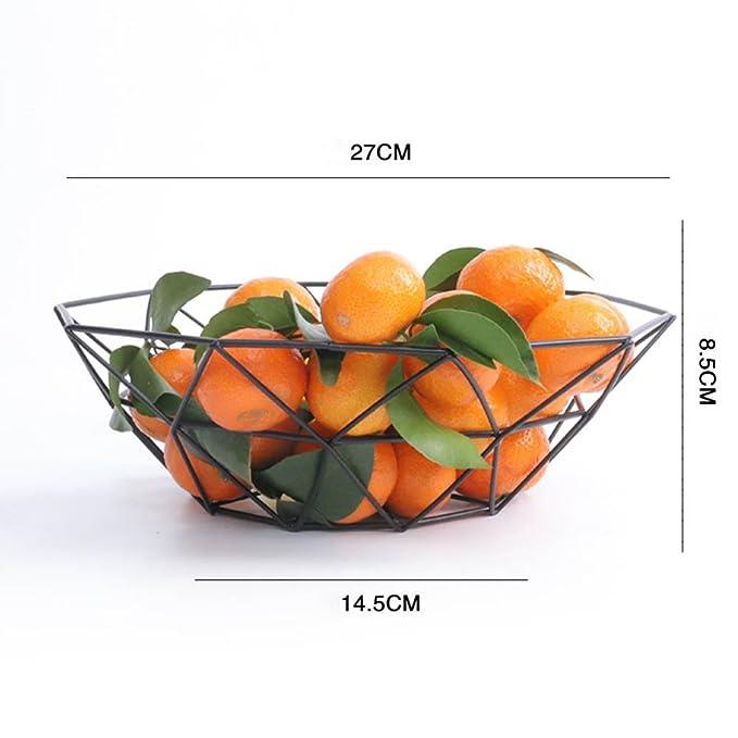 Crewell Creative - Cesta de Drenaje para Frutas, diseño geométrico, 3: Amazon.es: Hogar