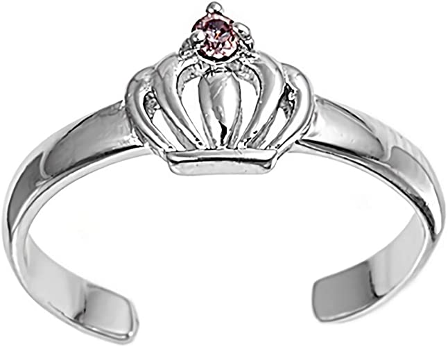 Pink With Clear CZ Glitzs Jewels 925 Sterling Silver Created Opal Ring | Jewelry Gift for Women Claddagh