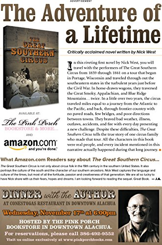 The Great Southern Circus: The Adventure of a Lifetime (The Long Road South Book 1) (Lifetime Cracker)
