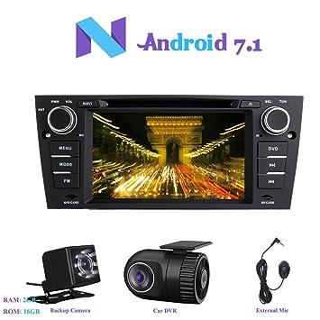 """Android 7.1 Autoradio, Hi-azul 1 DIN Radio de Coche 7"""" Navegación GPS"""