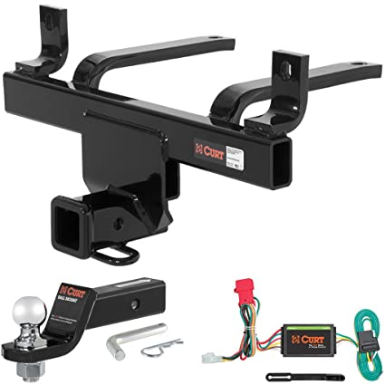 amazon com curt class 3 hitch tow package with 2\
