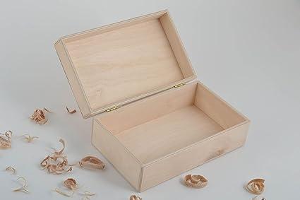 Caja de madera para decorar artesanal articulo para pintar regalo original