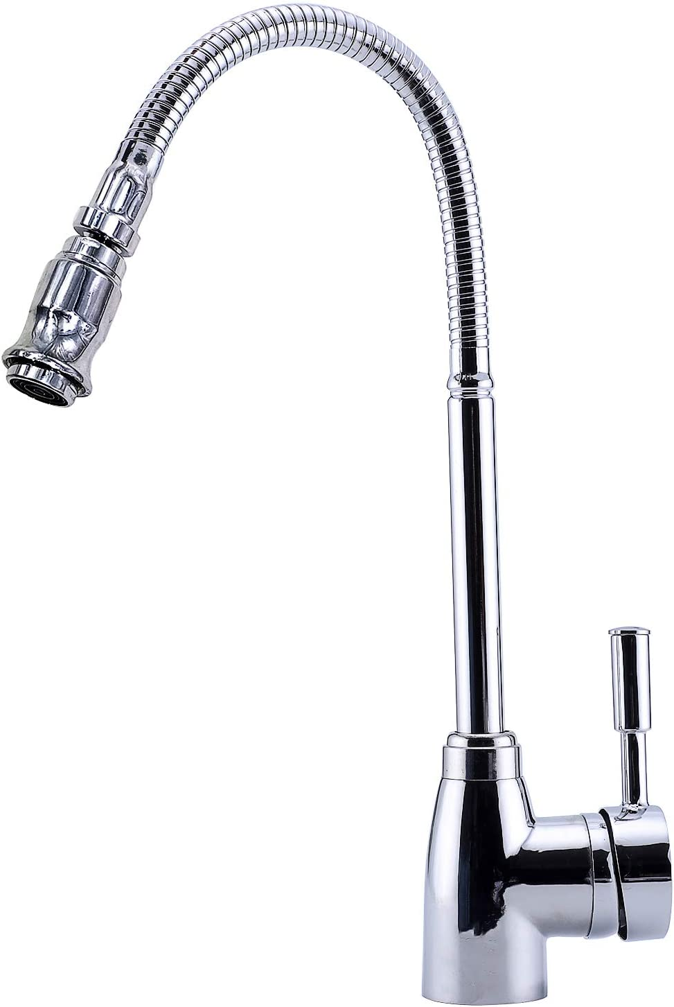 Kitchen Sink Faucet Spray Single Handle Pull Down Commercial Bar Faucet Chrome Mixer Tap 360 Degree Swivel Spray Head Adjustable Hot And Cold Water