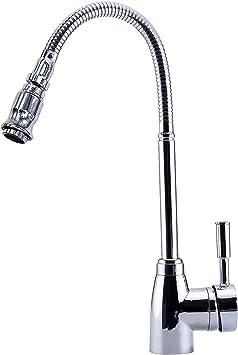 Mezcladora De Fregadero Para Cocina Caño Grifo Kitchen Sink Faucet Single Handle
