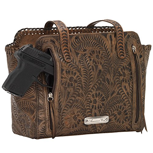 American West Women's Copper Annie's Concealed Carry Tote Tan One Size by American West (Image #3)