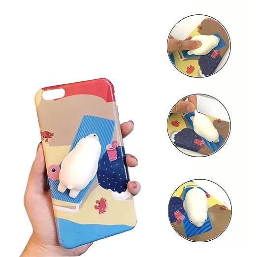 7 opinioni per iPhone Cassa, Aliyao 3D Squishy TPU Caso con Silicone molle Carino Animale