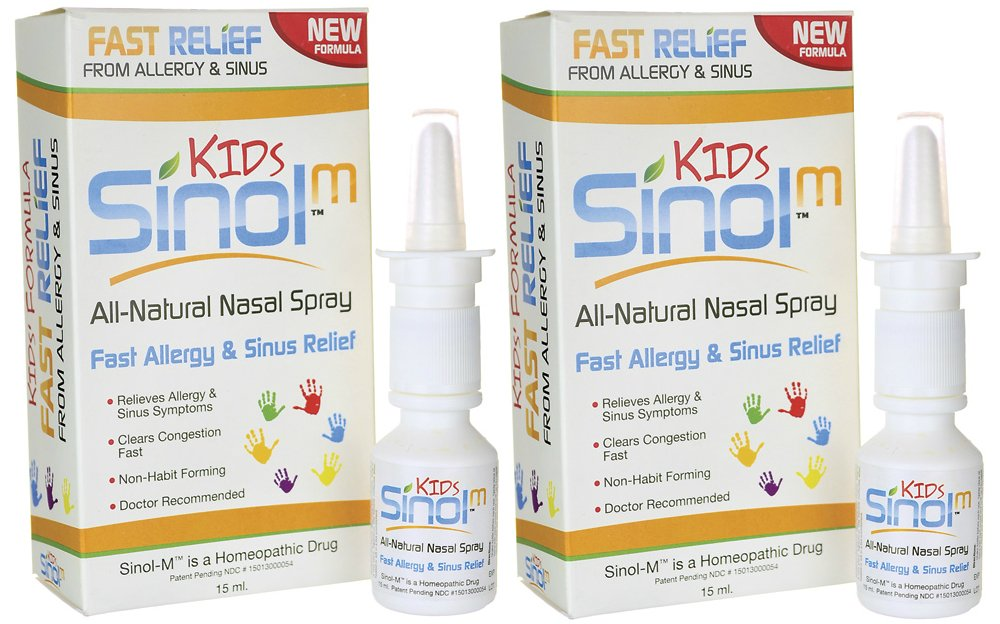 Sinol ''All Natural'' Allergy & Sinus Nasal Spray (Sinol Kids) (Set of 2)