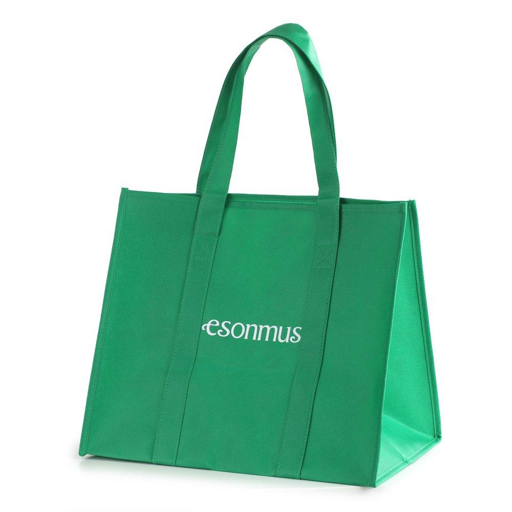 Esonmus Shopping Bag Einkaufstaschen 6 St/ück Gro/ße Wiederverwendbare Faltbar Nachhaltige Einkaufstaschen Set Non-Woven 38x33x25CM Blau