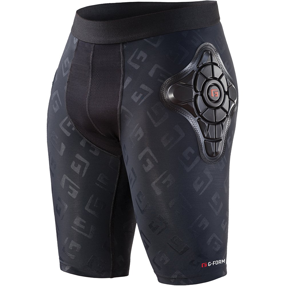 G-Form Pro-X Padded Compression Shorts, Black Logo, Youth Small