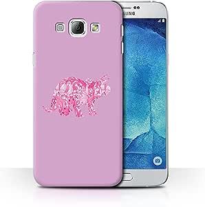 Samsung Galaxy Alpha dise/ño de Dinosaurios Stuff4/® Cute Green T-Rex Funda para tel/éfono m/óvil