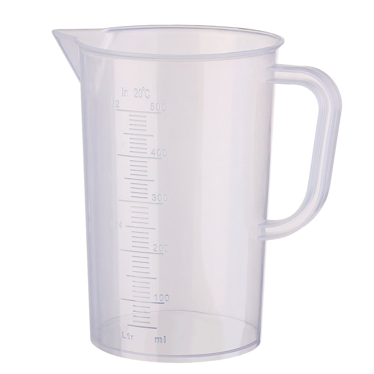 UEETEK 500ML Measuring Cup Plastic Sacle Graduated Cup Measurement Beaker