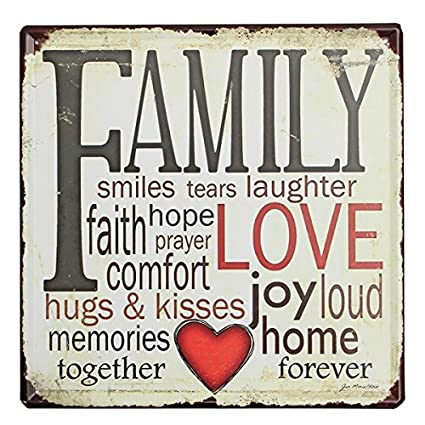 Warm and Beautiful Metal Plaque Tin Sign Family Love Tin Sign Vintage Metal Plaque Poster Bar Pub Home Wall Decor