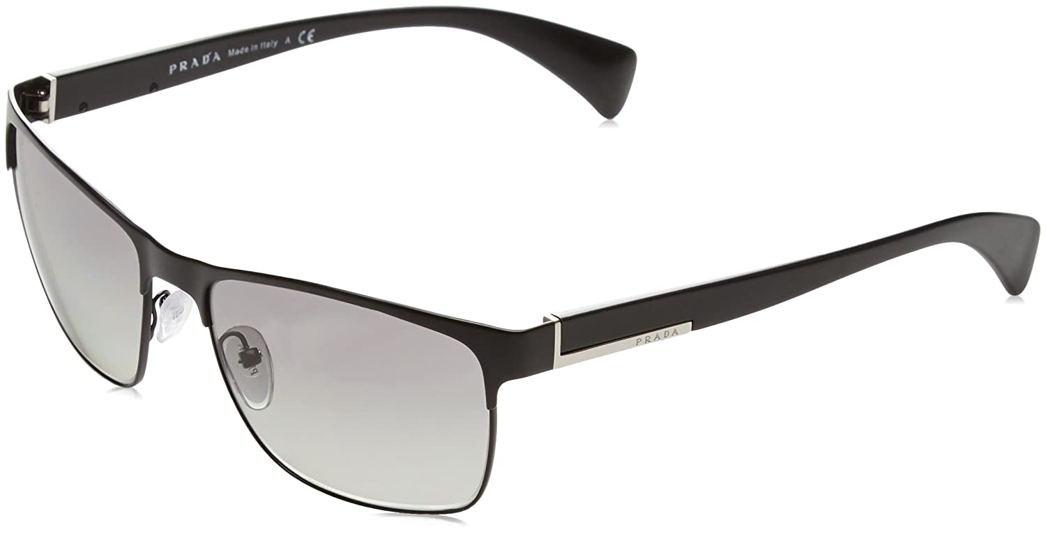 fb95ec242d0b Amazon.com  Prada Sunglasses - PR51OS   Frame  Matte Black Lens  Grey  Gradient  Prada  Shoes
