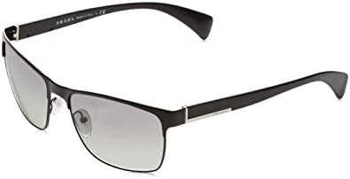 cd169a563205 Amazon.com: Prada Sunglasses - PR51OS / Frame: Matte Black Lens ...