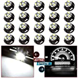 02 escort climate control panel - CCIYU 20 Pack White T5 /T4.7 Neo Wedge 12mm 3 SMD LED A/C Climate Control Light Bulbs 12V For 2006-2009 Mitsubishi Raider etc.
