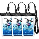 MoKo Universal Waterproof Phone Case [3 Pack] Waterproof Phone Pouch Dry Bag