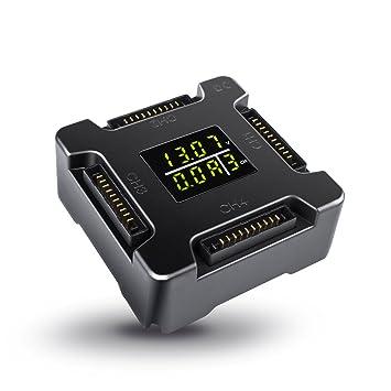 morpilot dji Mavic Pro Cargador de batería, 4 en 1 batería rápida Cargador Inteligente con indicador de Carga Pantalla LCD