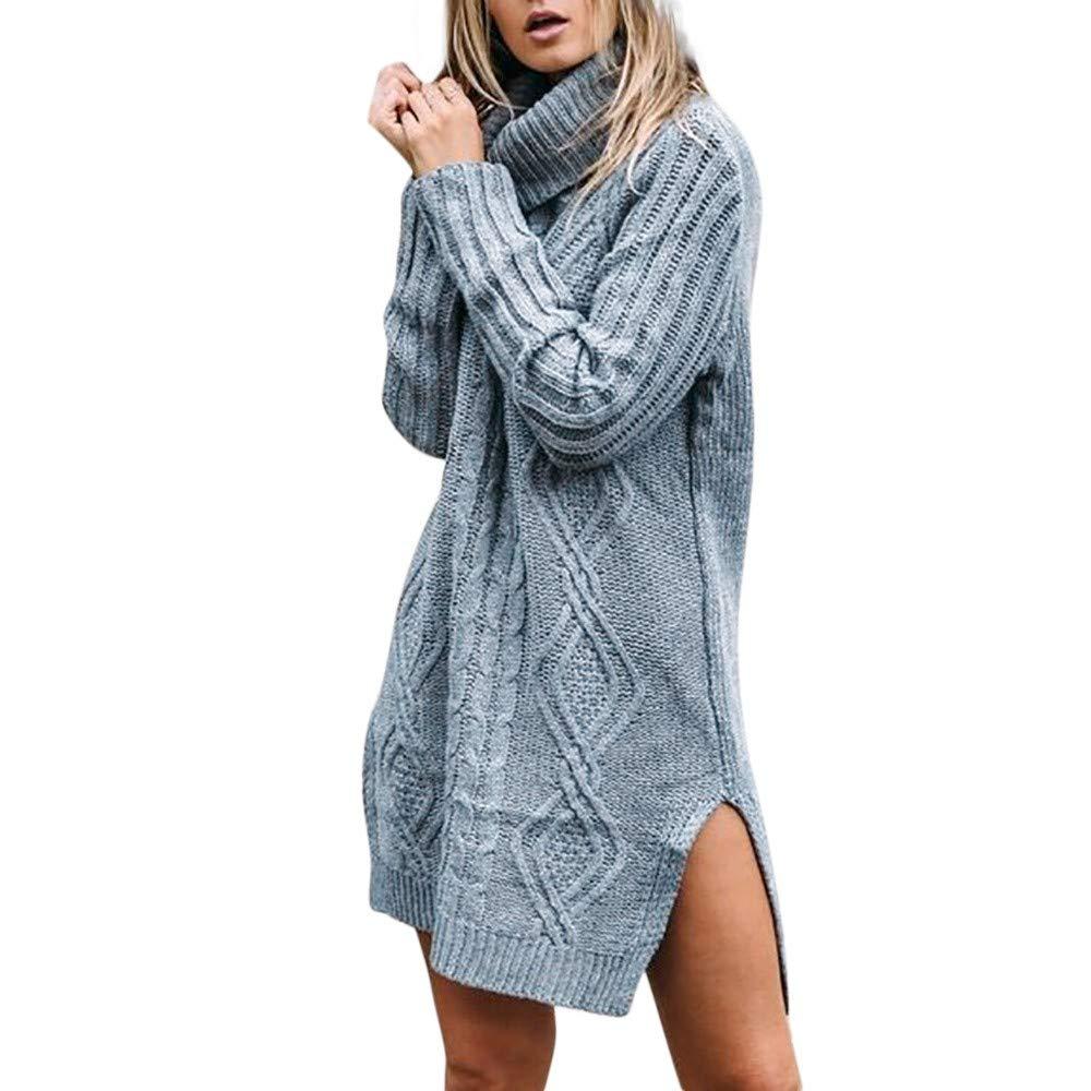 YANG-YI Plus Size Womens Long Sleeve Fashion T-Shirt Tops Stripe Sweater Coat