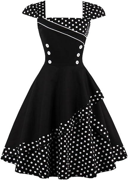 Damen Rockabilly 50er Petticoat Abendkleid Party Swing Pin Up Cocktail Ballkleid