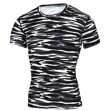 zarupeng✦‿✦ Moda para Hombre Camiseta de Manga Corta Yoga ...
