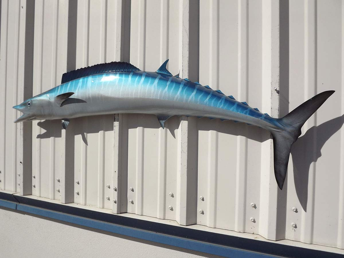 54'' Wahoo Half Sided Fish Mount Replica, Affordable Coastal Decor - Indoors Or Outside. by Mount This Fish Company (Image #4)