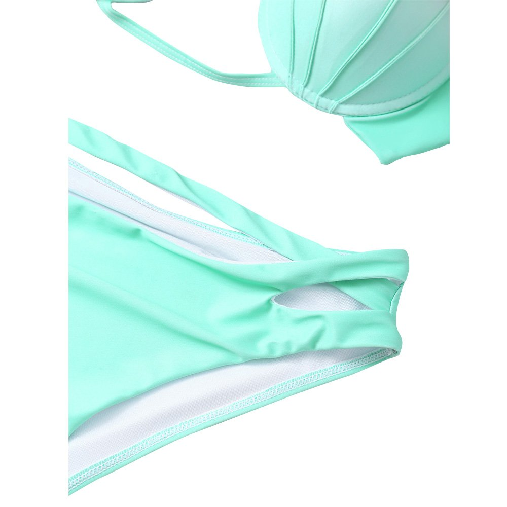 fbd34ed690ffa Amazon.com: Pxmoda Women's Gradient Color Seashell Bikini Set Padded  Mermaid Swimsuit: Clothing