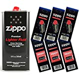 Zippo Gift Set - 12 Fl.oz Fluid Fuel and 3 Wick Card...