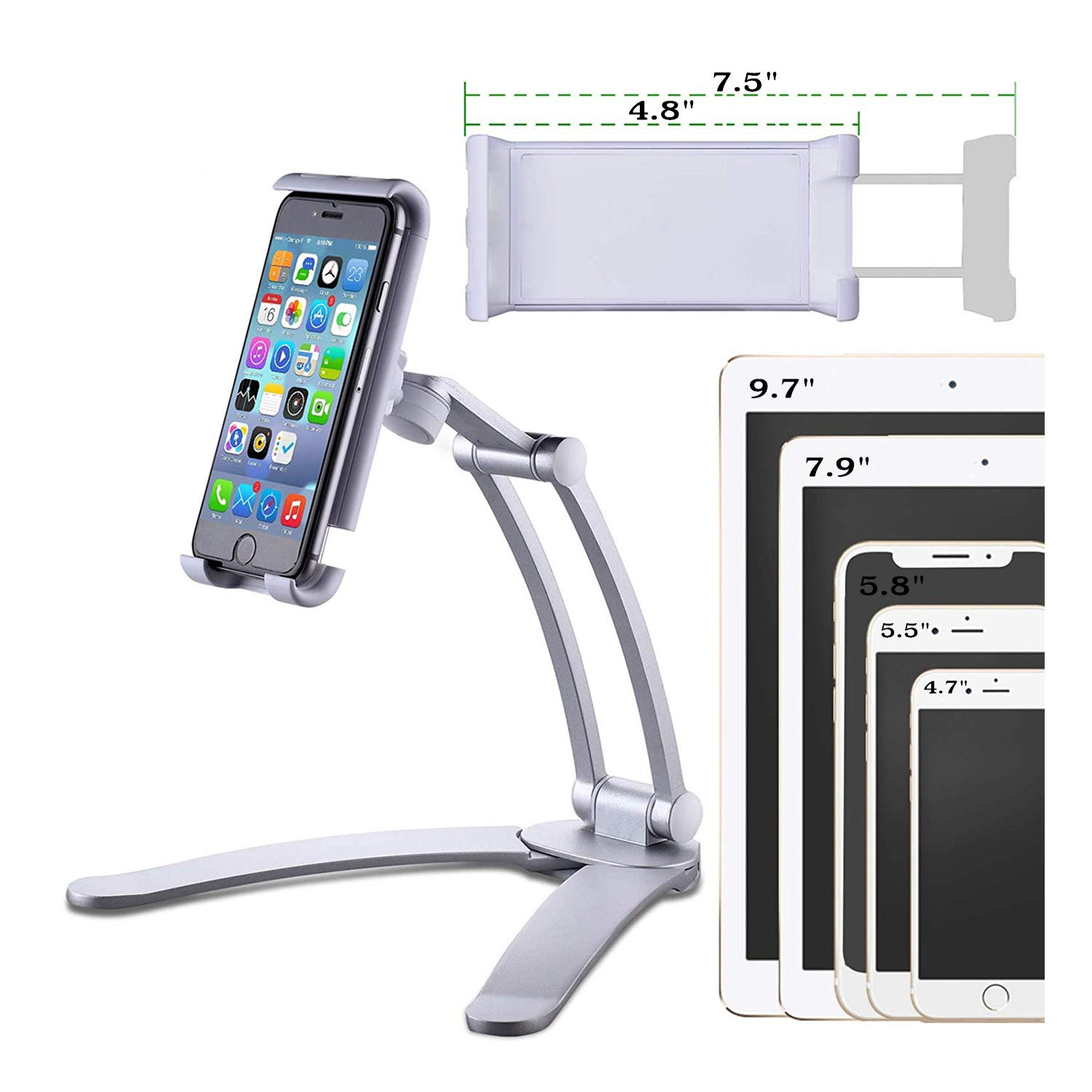 JaxTec Tablet Stand 2-in-1 iPad Kitchen Wall Mount/Under Cabinet Holder -  Perfect for Recipe Reading on Countertop or…- Buy Online in Gibraltar at  gibraltar.desertcart.com. ProductId : 160465456.