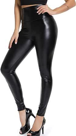 STARBILD Pantalones PU Leggings Cuero Skinny Sexy Elásticos para Mujeres