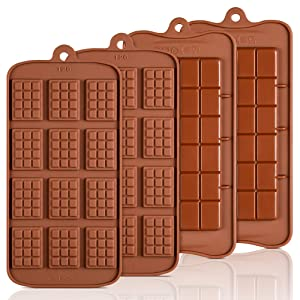 Silicone Break Apart Chocolate Molds - Candy Protein and Engery Bar Silicone Mold