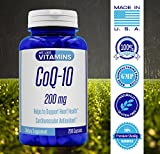 CoQ10 200mg 200 Capsules Max Strength Best Value CoQ-10 - Antioxidant Co Q-10 Coenzyme for a Healthy Heart Discount