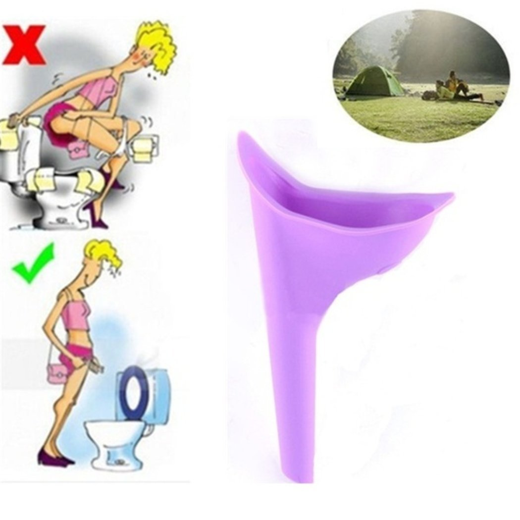 SeTing Female Portable Urination Device - Lets You Pee Standing Up - Discreet Reusable Urinal Funnel for Women 1pcs