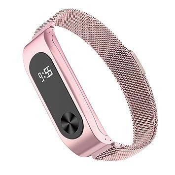 Simpeak Correa para Xiaomi Mi Band 2 (5.5-6.7 Pulgadas), Milanese Loop Pulseras de Acero Inoxidable Wristband Repuesto Bandas Xiaomi Mi Band 2 Fitness ...