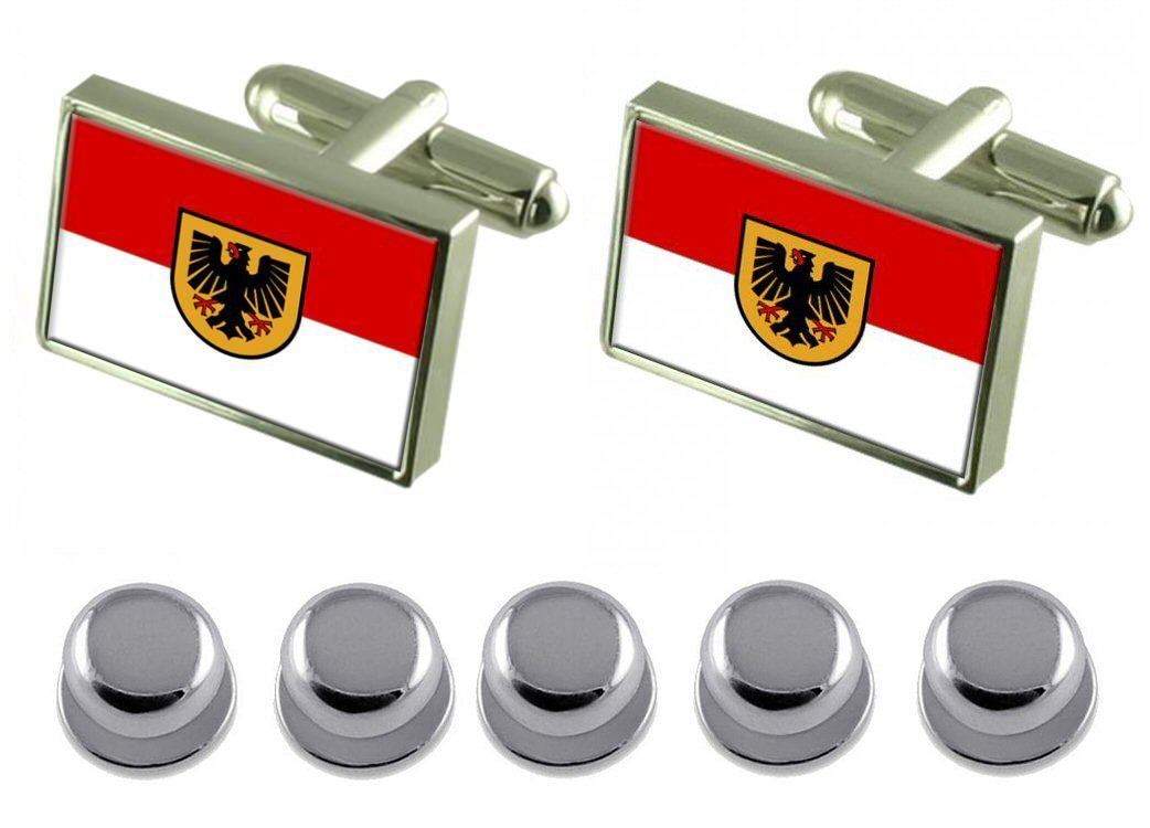 Select Gifts Shirt Dress Studs Dortmund City Germany Flag Cufflinks