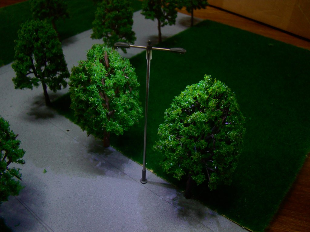 sharprepublic 10 Modelo Luces LED LAMPARA Metal Tren Postal Jardin Parque CALLEJADURA N Escala