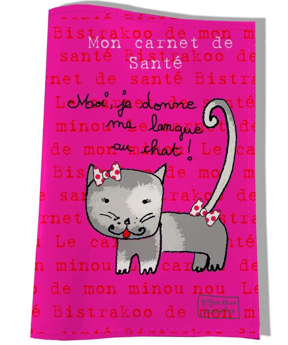 Protège carnet de santé pour chatte, Coloris fushia, réf. C2252