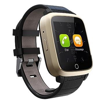 TKSTAR Reloj Inteligente, Pulsera con Pantalla Táctil Bluetooth con Cámara/Ranura para Tarjeta SIM/Análisis de Podómetro para Android y para iOS JU-U11S ...