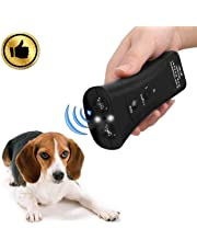 Handheld Dog Repellent & Trainer,Dual Channel Electronic Animal Repellent,LED Ultrasonic Dog Chaser Aggressive Attack Repeller Trainer Flashlight Effective Barking Stop Device,Waterproof Dog