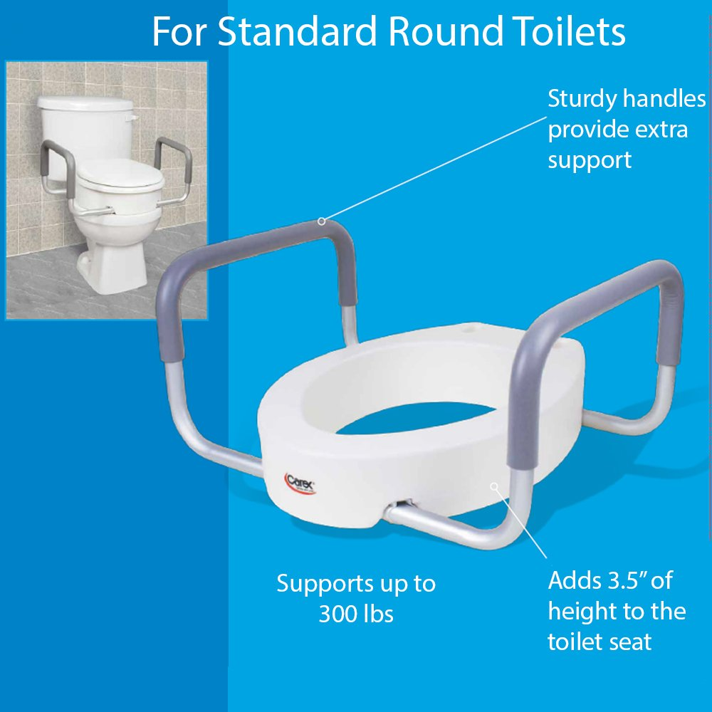 Amazon.com: Carex Toilet Seat Elevator with Handles for Standard ...