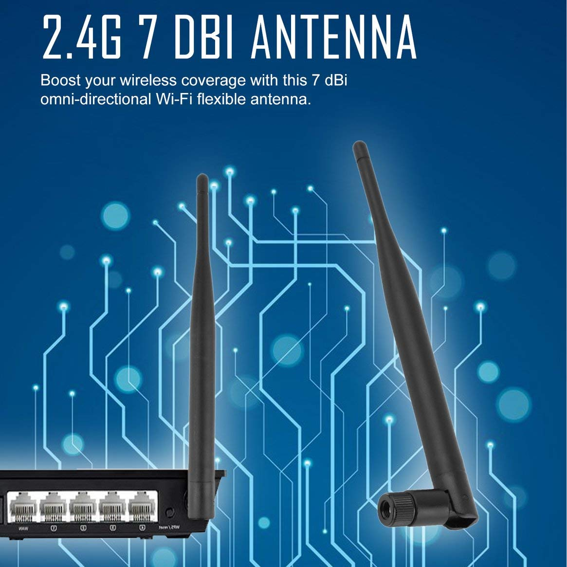 Delicacydex Professionelle Universal Wireless Wifi Antenne Booster 2,4 GHz 7dBi Wifi Antenne Booster WLAN RP-SMA f PCI Karte Modem Router