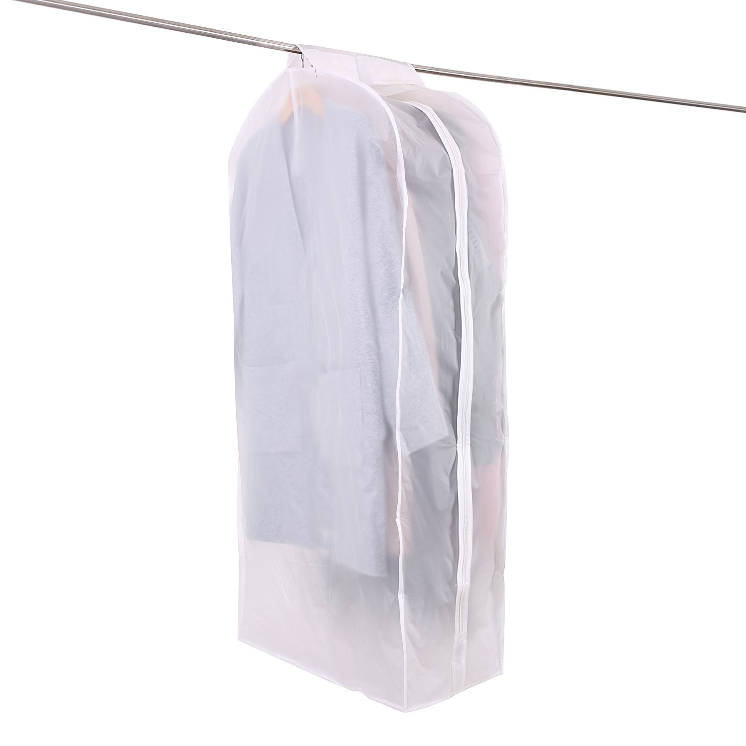 Clothes Hanging Garment Cover Garment Bag Breathable in Closet Cabinet, 43.31'' Clear Wardrobe Clothing Storage Protectors Dustproof Hanging Bag with Full Zipper Magic Tape for Suit Dress by CulturePRN