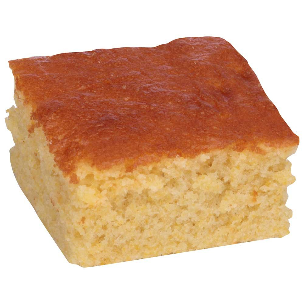 Sara Lee Chef Pierre Pre Cut Northern Style Cornbread, 12 x 16 inch - 4 per case.