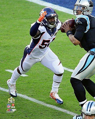 Size: 8 x 10 Von Miller Denver Broncos Super Bowl 50 Action Photo