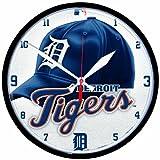 MLB Detroit Tigers Round Clock